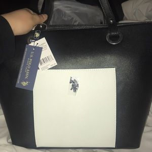 BRAND NEW Ralph Lauren black and white tote purse